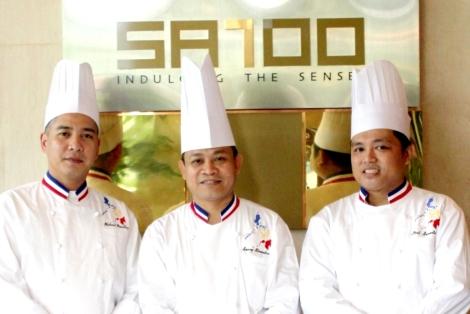 Michael Macatiag, Sonny Almandres and Paul Samonte - SATOO, Shangri-La Hotel, Jakarta