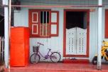 Rumah warga di pusat kota Tarempa.